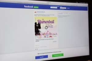 Blumenball 2018: Facebook-Werbung