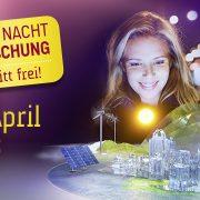 Sujet junge Frau für die Lange Nacht der Forschung | © Halfpoint/Shutterstock | Montage: message | Artwork: BUERO.BAND