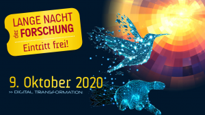 "Lange Nacht der Forschung 2020 – Sujet ""Kolibri"""