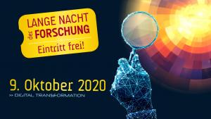 "Lange Nacht der Forschung 2020 – Sujet ""Lupe"""