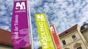 Stadtfahnen Mödling im neuen Design