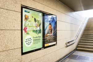 Bahnhof Plakat Privatgartentage Tulln