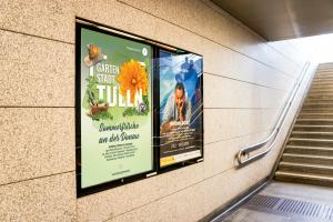 Bahnhof Plakat Tulln