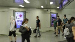 ÖBB Railscreen am Hauptbahnhof Wien