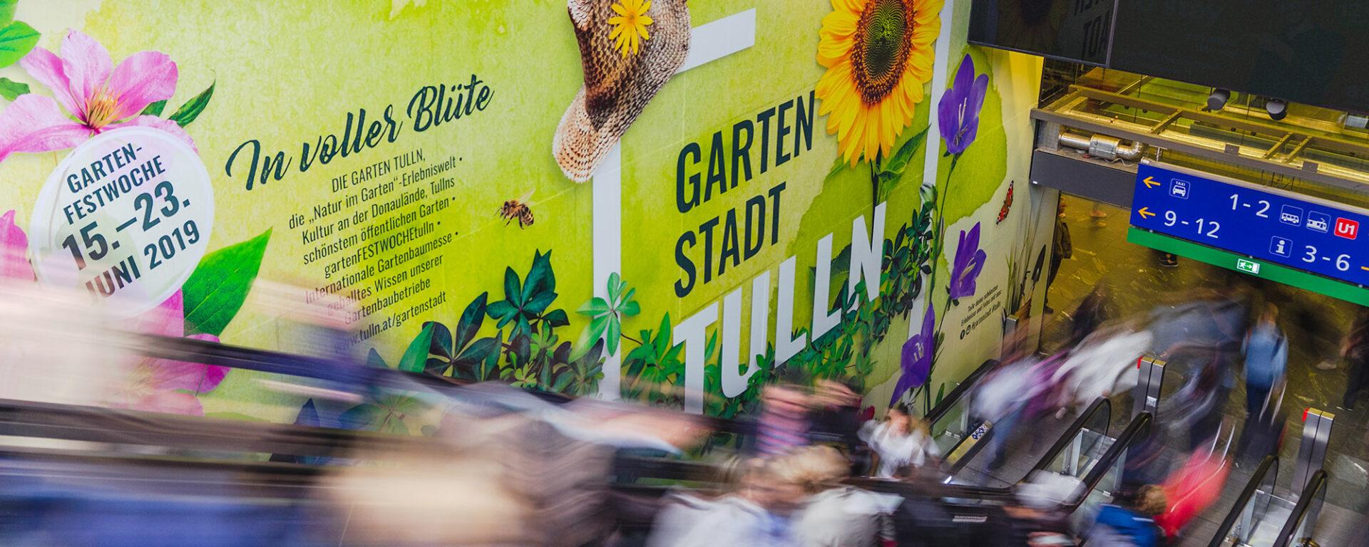 Rolltreppe am Wiener Hauptbahnhof
