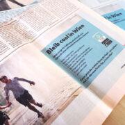 Printanzeigen für die Gratis-App Cooles Wien