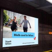 Infoscreen-Werbung Cooles-Wien-App