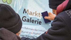 Beschriftung der Markt-Galerie
