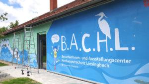 Die Fassade des B.A.C.H.L. als Eyecatcher.