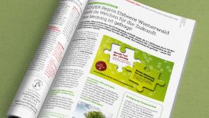 Aktivierungskampagne mit Aufrufen zur Beteiligung in Zeitschriften